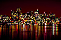 Downtown Seattle at Night across Lake Union.