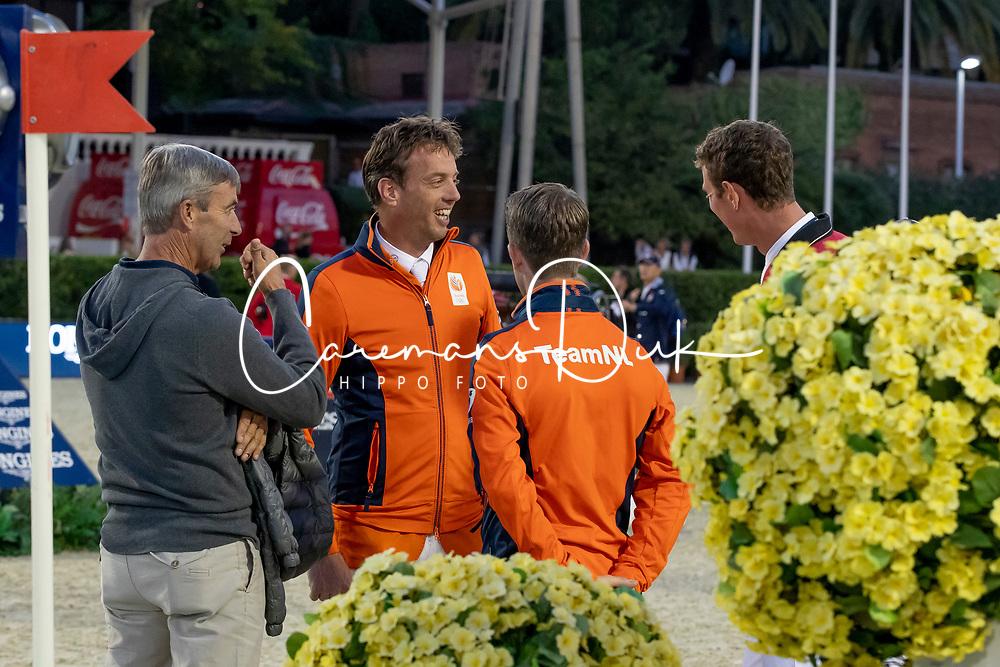 Smolders Harrie, Verlooy Jos, Van der Vleuten Eric, Van der Vleuten Maikel<br /> Longines FEI Jumping Nations Cup™ Final<br /> Barcelona 20128<br /> © Hippo Foto - Dirk Caremans<br /> 05/10/2018