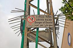 Power Line Tower Danger Sign