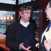 NLD/Amsterdam/20140220 - Boekpresentatie Fout Geld in De Nederlandse Bank, Thomas Ross in gesprek met Nout Wellink
