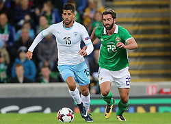 Israel's Dor Micha (left) and Northern Ireland's Will Grigg battle for the ball during the International Friendly at Windsor Park, Belfast PRESS ASSOCIATION Photo. Picture date: Tuesday September 11, 2018. See PA story SOCCER N Ireland. Photo credit should read: Liam McBurney/PA Wire. during the International Friendly at Windsor Park, Belfast PRESS ASSOCIATION Photo. Picture date: Tuesday September 11, 2018. See PA story SOCCER N Ireland. Photo credit should read: Liam McBurney/PA Wire
