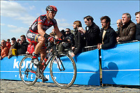 Sykkel<br /> Foto: PhotoNews/Digitalsport<br /> NORWAY ONLY<br /> <br /> OUDENAARDE, BELGIUM - APRIL 01:  <br /> HUSHOVD Thor of Team BMC on the Paterberg climb during the Flanders Classics UCI WorldTour 96th Ronde van Vlaanderen cycling race with start in Brugge and finish in Oudenaarde on April 01, 2012 in Oudenaarde, Belgium.
