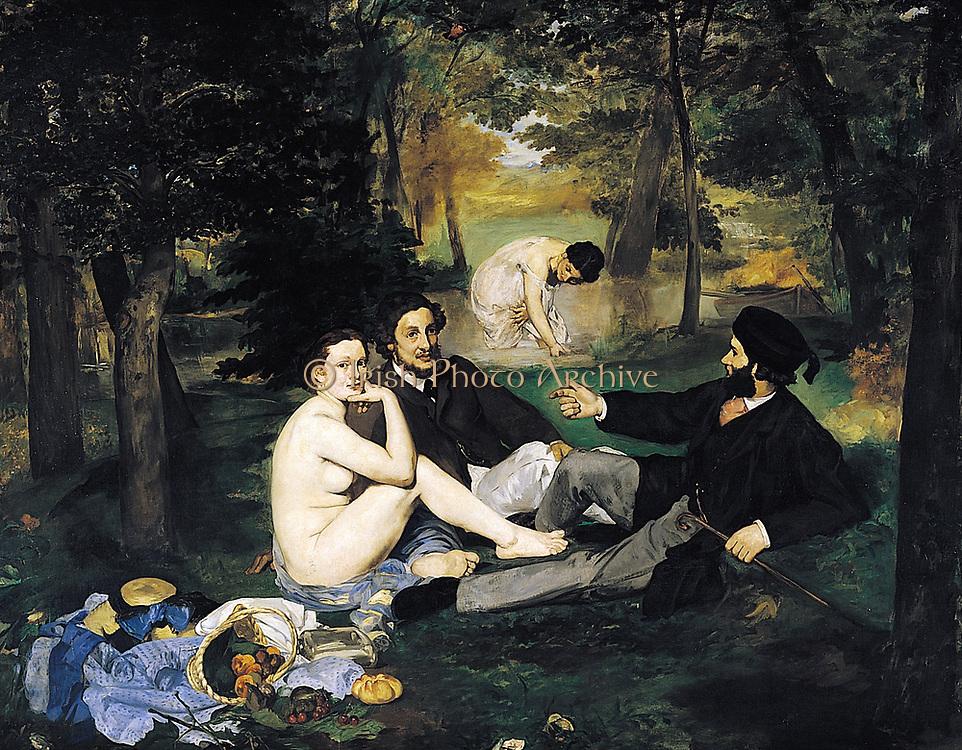 Le déjeuner sur l'herbe by edward Manet 1863