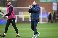 Coventry City manager Mark Robins claps the fans after the EFL Sky Bet League 1 match between Peterborough United and Coventry City at London Road, Peterborough, England on 16 March 2019.