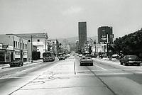 1973 Looking north up Vine St. from Santa Monica Blvd.