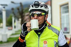 Rider during 3rd Stage from Soca to Prevalje, 230km at Day 3 of DOS 2021 Charity event - Dobrodelno okrog Slovenije, on April 29, 2021, in Slovenia. Photo by Vid Ponikvar / Sportida