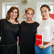 NLD//Amsterdam/20160422 - Boekpresentatie Maestra, Heleen van Royen, schrijfster Lisa Hilton en Halina Reijn
