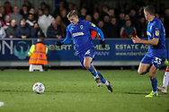 AFC Wimbledon attacker Marcus Forss (15) about to set up AFC Wimbledon midfielder Callum Reilly (33) to score goal during the EFL Sky Bet League 1 match between AFC Wimbledon and Doncaster Rovers at the Cherry Red Records Stadium, Kingston, England on 14 December 2019.