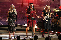 52nd Annual Country Music Association Awards hosted by Carrie Underwood and Brad Paisley and held at the Bridgestone Arena on November 14, 2018, in Nashville, TN. © Curtis Hilbun / AFF-USA.com. 14 Nov 2018 Pictured: Miranda Lambert and Ashley Monroe and Angaleena Presley of Pistol Annies. Photo credit: Curtis Hilbun / AFF-USA.com / MEGA TheMegaAgency.com +1 888 505 6342