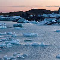 """In a cold evening, shortly before sunset we made some pictures of Jökulsárlón. The glacier area has often been used as a movie location, amongst others """"A View to a Kill"""", """"Tomb Raider"""" or """"Batman Begins""""."""