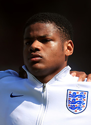 England U17's Vontae Daley-Campbell during the UEFA European U17 Championship, Group A match at Banks's Stadium, Walsall. PRESS ASSOCIATION Photo. Picture date: Monday May 7, 2018. See PA story SOCCER England U17. Photo credit should read: Mike Egerton/PA Wire. RESTRICTIONS: Editorial use only. No commercial use.