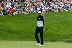 June 24, 2018 - Cromwell, Connecticut, United States - Bubba Watson waves to the crowd as he approaches the 18th hole during the final round of the Travelers Championship at TPC River Highlands. (Credit Image: © Debby Wong via ZUMA Wire)