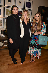 Left to right, Sabrina Percy, Marissa Montgomery and Lily Bourne at the Rosie Fortescue Jewellery Launch, Brown's Hotel London England. 10 May 2017.<br /> Photo by Dominic O'Neill/SilverHub 0203 174 1069 sales@silverhubmedia.com