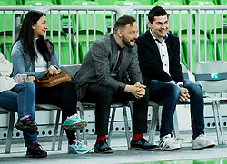 Raper Zlatko and Denis Sarkic during basketball match between KK Union Olimpija and KK Helios Suns in Round 8 of Nova KBM 2016/17 Champions League, on March 29, 2017 in Arena Stozice, Ljubljana, Slovenia. Photo by Vid Ponikvar / Sportida