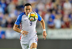 September 1, 2017 - Harrison, NJ, USA - Harrison, N.J. - Friday September 01, 2017:  Bobby Wood at Red Bulls stadium during a 2017 FIFA World Cup Qualifying (WCQ) round match between the men's national teams of the United States (USA) and Costa Rica (CRC) at Red Bull Arena. (Credit Image: © John Todd/ISIPhotos via ZUMA Wire)