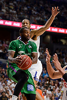 Real Madrid's Anthony Randolph and Unicaja Malaga's Oliver Lafayette during semi finals of playoff Liga Endesa match between Real Madrid and Unicaja Malaga at Wizink Center in Madrid, May 31, 2017. Spain.<br /> (ALTERPHOTOS/BorjaB.Hojas)