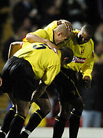 Fotball<br /> Carling Cup Fourth Round<br /> 09.11.2004<br /> Foto: SBI/Digitalsport<br /> NORWAY ONLY<br /> <br /> Watford v Southampton<br /> <br /> Watford celebrate their second goal scored by James Chambers