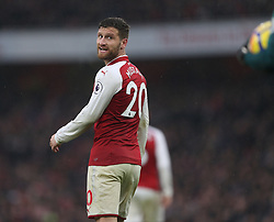 18 November 2017 London : Premier League Football : Arsenal v Tottenham Hotspur - Shkodran Mustafi of Arsenal.(photo by Mark Leech)
