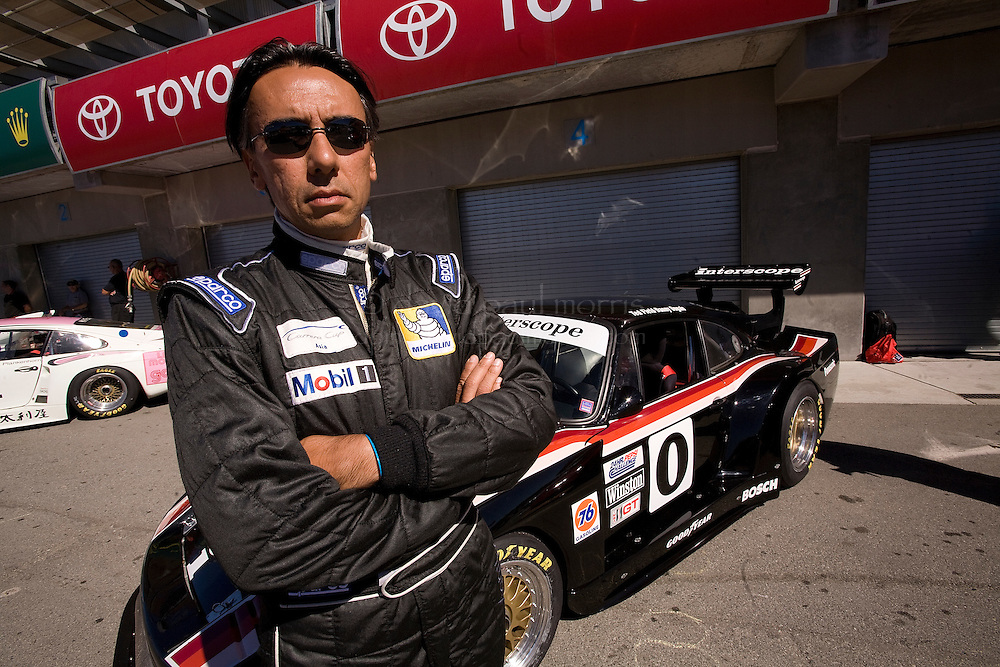 MONTEREY, CA - AUGUST 19: Alain Li in front of his his 1980 Porsche 935 before racing in the Monterey Historic Automobile Races at the Mazda Raceway Laguna Seca on August 19, 2007 in Monterey, California.  (Photo by David Paul Morris)