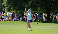26JUL15 Fan favorite Lexi Thompson approaches the 18th green during Sunday's Final Round of The Meijer LPGA Classic at The Blythefield Country Club in Belmont, Michigan. (photo credit : kenneth e. dennis/kendennisphoto.com)