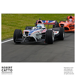 Robbie Kerr leads Jeroen Bleekemolen at the A1 Grand Prix of New Zealand at the Taupo Motorsport Park, Taupo, New Zealand.