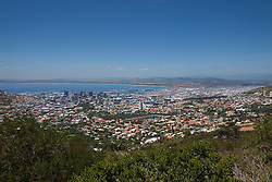 Aerial view of cityscape, Cape Town, Western Cape Province, South Africa