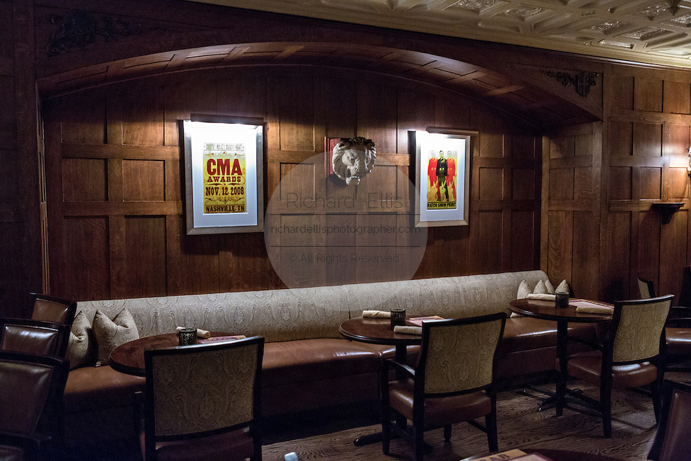 Oak room bar in the historic The Hermitage Hotel in Nashville, TN.