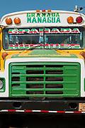 Bus in Granada, Nicaragua