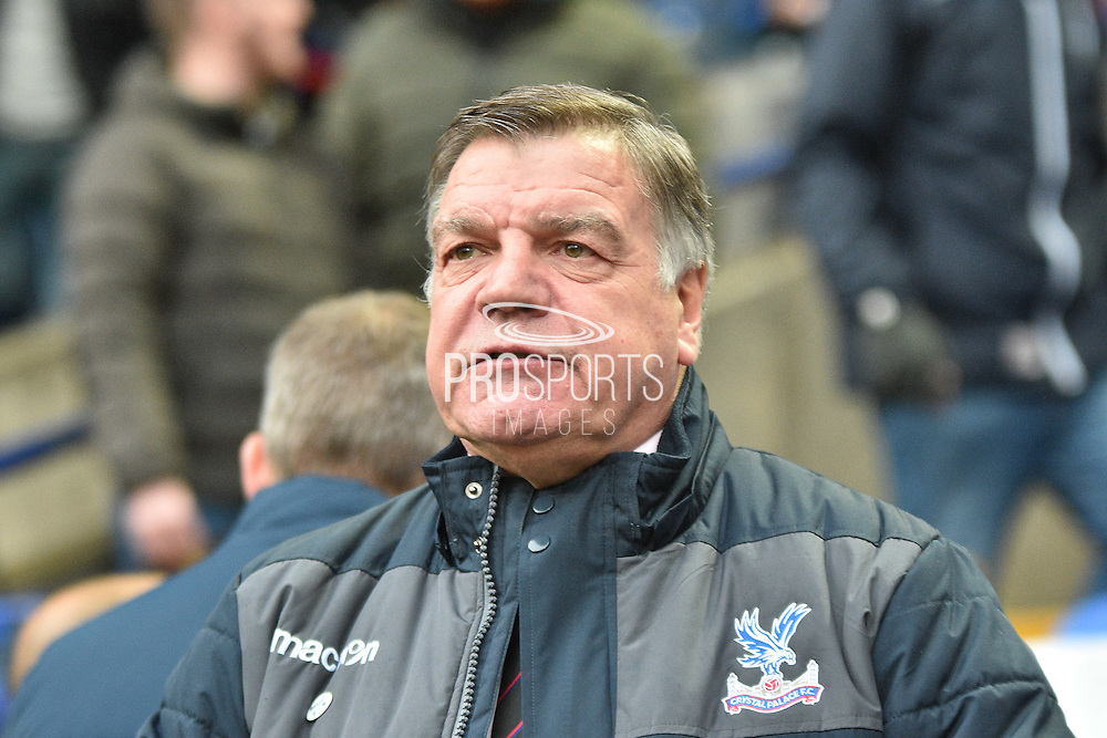 Crystal Palace Manager, Sam Allardyce during the The FA Cup 3rd round match between Bolton Wanderers and Crystal Palace at the Macron Stadium, Bolton, England on 7 January 2017. Photo by Mark Pollitt.