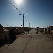 August 08, 2013 - Zaatari, Jordan: General view of a residential area at Zaatari refugee camp in northern Jordan. Zaatari camp, home to more than 120,000 people who in the past year have fled the conflict in Syria, become the fourth largest city in Jordan and the world's second largest refugee camp behind Dadaab in eastern Kenya. Most of its residents came from Daraa, a city about 30Km away in Syria, rich with businessmen thanks to a long history of cross-border trade with Jordan. (Paulo Nunes dos Santos/Al Jazeera)