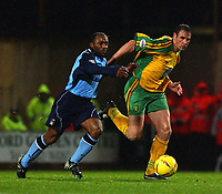PIC BY DANIEL HAMBURY/SPORTSBEAT IMAGES<br /><br />Norwich City's Malky Mackay and Coventry City's Julian Joachim