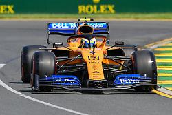 March 16, 2019 - Melbourne, Victoria, Australia - Lando Norris (4) of Great Britain drives the McLaren F1 Team MCL34 during practice ahead of the Australian Formula 1 Grand Prix at Albert Park on March 16, 2019 in Melbourne, Australia  (Credit Image: © Morgan Hancock/NurPhoto via ZUMA Press)
