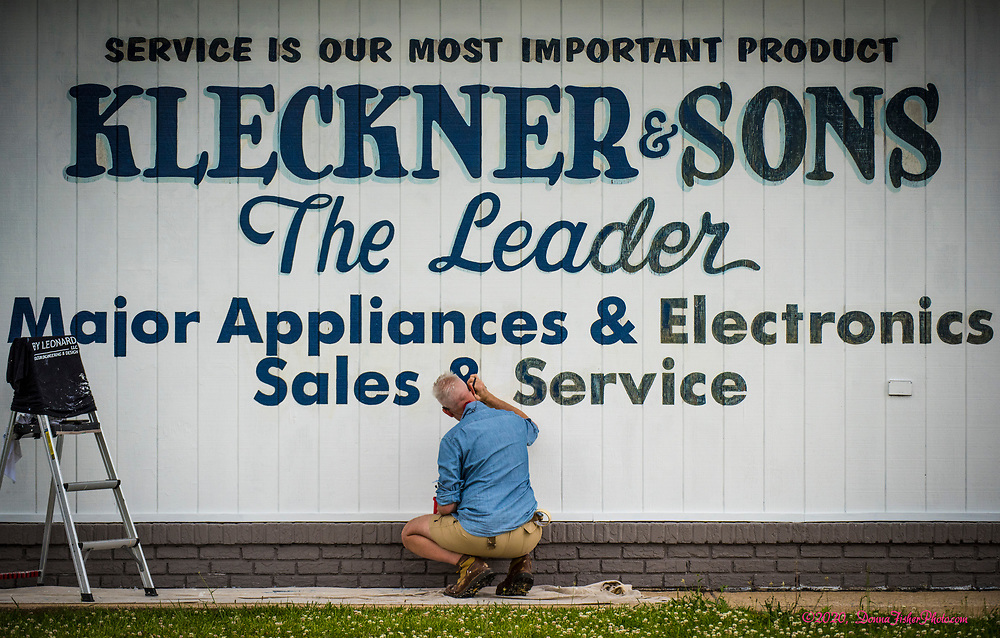Kleckner & Sons gets a cleaned-up sign look. Scenes along MacArthur Road in Whitehall Township, Lehigh County, Pa.. Picture made June, 2020.<br />  Donna Fisher Photography, LLC
