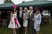 NATASHA HEMMINGS MISS ENGLAND; DARIUS DAUBARAT; MRS. DARIUS UNUSAITE-DAUBARAT; VISCOUNT DAVENPORT; LIZ BREWER, 2015, Royal Ascot, Tuesday, 14 June 2016