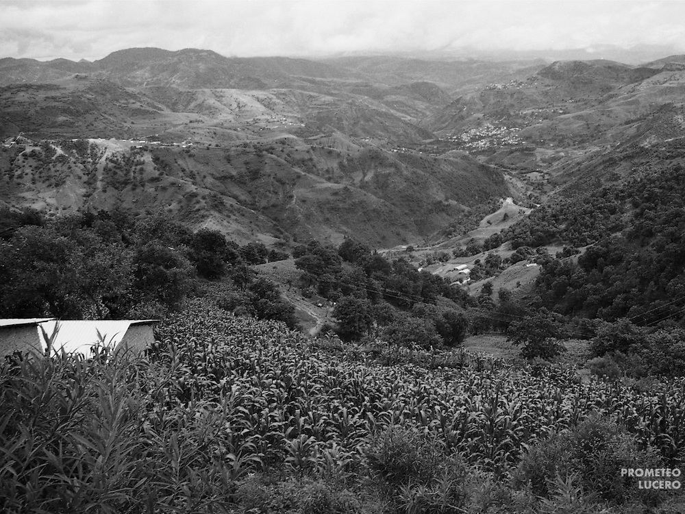 Costilla del Cerro community in La Montaña range of Guerrero. People live of the harvest of corn, beans, quelites and chile and often migrate to work in the north of Mexico or the United States.  (Prometeo Lucero)
