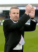 Photo: Glyn Thomas.<br />Chesterfield v Swansea City. Coca Cola League 1. 06/05/2006.<br />Swansea's manager Kenny Jackett celebrates.
