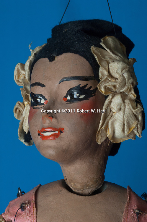 Detail of one of Burk's puppets made in the 1930s at The Dallas Children's Theater on 10/14/11....Robert W. Hart/Special Contributor