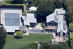 EXCLUSIVE: Robbie Williams new Malibu home and his famous neighbours from the air. 02 Aug 2018 Pictured: Courtney Cox. Photo credit: Toby Canham / MEGA TheMegaAgency.com +1 888 505 6342
