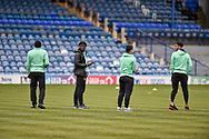 Queens Park Rangers Players check the pitch during the The FA Cup fourth round match between Portsmouth and Queens Park Rangers at Fratton Park, Portsmouth, England on 26 January 2019.