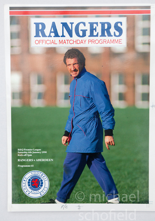 Graeme Souness on the programme cover. Pictures and pages from the time at Rangers News 1989 to 1993..©Michael Schofield.