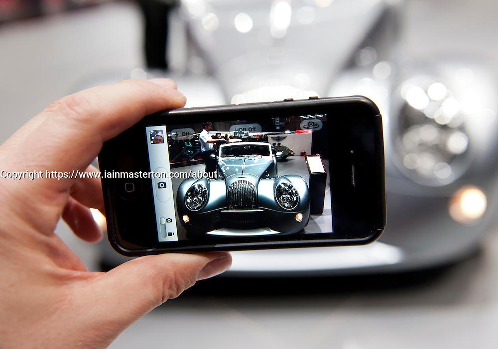 Morgan Aero supersports car on display at Geneva Motor Show 2011 Switzerland