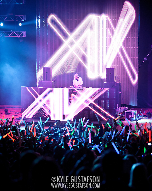COLUMBIA, MD - April 28th, 2012 -  Swedish DJ Avicii headlines the 2012 Sweetlife Food and Music Festival at Merriweather Post Pavilion in Columbia, MD.  After a long day of rain and cold weather, fans went crazy for his brand of electronic dance music. (Photo by Kyle Gustafson/For The Washington Post)