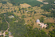 An aerial photograph of the University of Chicago's Yerkes Observatory at Williams Bay (near Lake Geneva), Wisconsin.