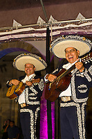 Mariachis perform at the Cabañas Cultural Institute in the historic center of Guadalajara, Mexico