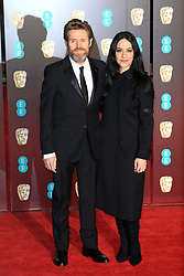 attend the EE British Academy Film Awards at the Royal Albert Hall in London, UK. 18 Feb 2018 Pictured: Willem Dafoe and Giada Colagrande. Photo credit: Fred duval / MEGA TheMegaAgency.com +1 888 505 6342