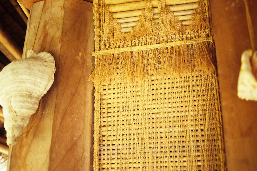 Weaving, traditional Men's house detail, Pe'bay, Tamil, Yap, Wa`ab, Waqab, Federated States of Micronesia, islands in the Caroline Islands