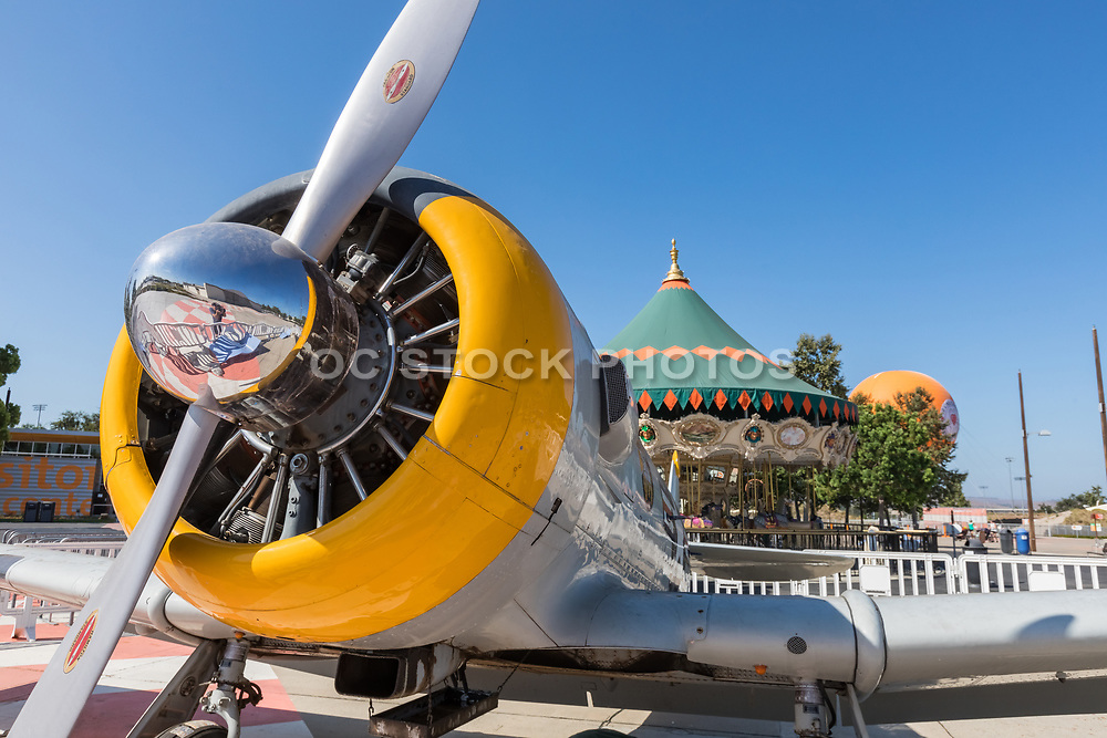 SNJ-5 Texan Vintage Airplane on Display at OC Great Park in Irvine
