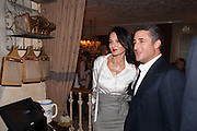 YASMINE MILLS; LUCA DEL BONO, Afternoon tea to  celebrate the addition of the Naked Heart Dessert to Russian restaurant Mari Vanna's menu,  Mari Vanna, 116 Knightsbridge, London, SW1X 7PJ. August 29 2012.