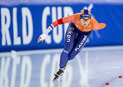 10-12-2016 NED: ISU World Cup Speed Skating, Heerenveen<br /> 1500 m women / Linda de Vries reed de elfde tijd (1.58,76).