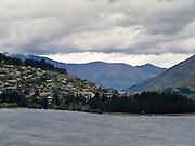 View of Queenstown taken from the north; New Zealand's adventure capitol; Otago Region, New Zealand